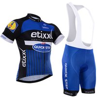 Wholesale etixx quick step cycling team for sale - Group buy 4 colors quick step bike wear bibs shorts set Ropa Ciclismo quick dry team etixx cycling jersey bike shorts gel BICYCLING Maillot Culot