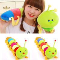 Barato Grande Lagarta De Pelúcia-1 Piece 50CM Colorful Caterpillars Millennium Bug Doll Brinquedos de peluches Baby Kids Large Caterpillar Hold Pillow Doll 88 YH-17