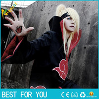Wholesale Anime New Japan - New Fashion Unisex Cosplay Costumes Japan Anime Naruto Itachi Akatsuki Cosplay Robes Cloak Party Costumes