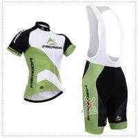 jersey verde de merida al por mayor-Nuevo blanco verde Mérida Ciclismo ropa / bicicleta deporte bicicleta camino Ciclismo jersey manga corta / Ciclismo desgaste / Transpirable / secado rápido