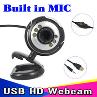T USB 30M Videocamera HD con microfono 30 Mega Pixel Web Cam 6 LED Webcam HD Camera MIC PER PC PORTATILE