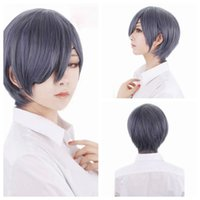 Wholesale wig anime men for sale - Z F Cosplay CM Mixed Color Shot Synthetic Man Cosplay Party Wigs Halloween Classical Silver Pure White Anime Wigs
