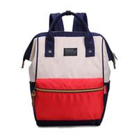 Wholesale Smile Fashion Handbags - 2017 New fashion designer backpack women handbags canvas smile girl school style tote bag brand luxury handbags