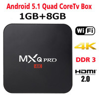 Wholesale Android Tv Dlna - MXQ Pro 4K TV Box Amlogic S905X Android 6.0 Android 1GB 8GB 5.1 Ultra Streaming 16.0 full Box MXQ-pro with WiFi HDMI DLNA 0803024