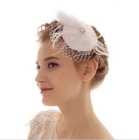 Wholesale White Bridal Top Hat - 2017 Top Sale White Wedding Bridal Party Hats Breaking US Dance Performance Headdress Photo Studio Props