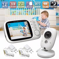 Wholesale Wholesale Baby Video Monitors - Wireless Baby Monitor VB603 3.2 inch LCD IR Night Vision 2 way Talk 8 Lullabies Temperature monitor Digital video nanny babysitter video
