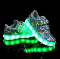 Usb Light Shoes for sale - Children's USB charging light shoes led 7 colour with light men's shoes on light flash night-light movement female children's shoes