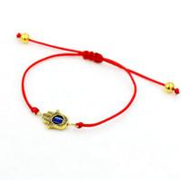 Wholesale Charms For Bracelets Wholesale Hamsa - Luckly Silver color Hamsa hand Lion Amulet bracelet Red rope thread string braided for men women Gift Gift Adjustable Bracelet