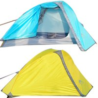 Wholesale Ultralight Tents Backpacking - 1 Person Winter Tent Camping Hiking Aluminum Pole Ultralight Camp Tent Waterproofing Double Layer Tents