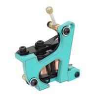 Wholesale Handmade Rotary - Handmade Professional Tattoo Machines Gun 10 Coils For Liner and Shader Top Quality Handmade Tattoo Gun
