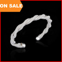 Fashion Woman Twisted wire mesh Jewelry Bangle Charm Bracelets brillants boutons ouverts bijoux féminins par DHL 160139