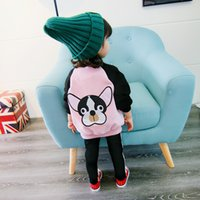 Wholesale Outerwear For Dogs - Toddler girls Jacket Autumn Spring cute dog Kids Jacket For girls Outerwear Tops Clothings