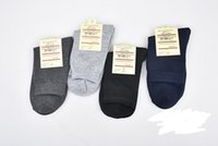 Wholesale Cheap Business Socks - 50 pcs Cheap socks for men black business cotton socks with logo card Autumn and winter men warm Socks