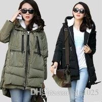 Wholesale Corduroy Coat Ladies - 2016 Winter Popular Zipper Thick Lady Hooded Jacket Cotton Padded Casual Warm Coat Women Plus Size Down Jacket free shiping ..
