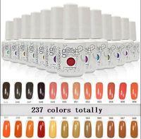 geles de uñas de colores al por mayor-2016 Recién llegado a la venta 237 colores Gelish Nail Gel SOAK-OFF GEL POLAK 100 piezas / lote libre de DHL