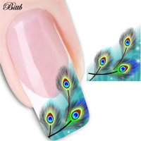 Peacock Feather Design Sticker per unghie Watermark Nail Suggerimenti Manicure Long-lasting Thin Beauty Art Sticker Tools