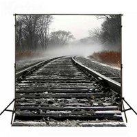 Wholesale Photography Stones - 5x6.5ft Photo background Railway train stones photography backdrops Cotton, Seamless for Children photography backdrop LK3091