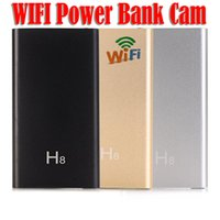 Wholesale Wireless External Hd - H8 Spy Camera HD 1080P P2P Wifi Mobile Power Bank Camera External Battery Wireless IP Spy Hidden Cameras DVR Video Recorder Motion Detection