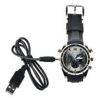 Wholesale hd ir watch - Hd 1080p 16GB Mini Waterproof Camcorders Watch DVR Video Recorder With Ir Night Vision