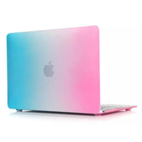 Wholesale Colour Laptop - Dazzle colour Matte Hard Rubberized Case Cover Protector for Apple Macbook Air Pro with Retina 11 13 15 inch Laptop Crystal Cases Free