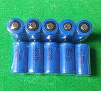 ingrosso batterie al litio cr123a ricaricabili-Batteria al litio non ricaricabile CR123 DL123 CR17345 foto ricaricabile al litio HOT 400pcs / lot 3v