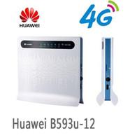 Wholesale Lte Router Wifi - Huawei B593u-12 Unlocked 4G LTE CPE Industrial WiFi Router (T logo) plus 2pcs B593 Antenna