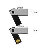 2gb usb sürücüler toptan satış-Mini USB Flash Sürücü ile döner büküm usb disk su geçirmez OEM Logo 512 mb 1 gb 2 gb 4 gb 8 gb 16 gb 32 gb