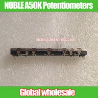 Wholesale Fader Mixer - Wholesale- 1pcs for Soundcraft EF12 double linkage fader NOBLE A50K Mixer Slide Potentiometers 75MM A50Kx2 for Yamaha MG124CX K60G