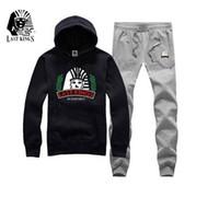 geometrik baskılı kazak toptan satış-633 s-5xl yeni kazak erkekler lk Geometrik Rahat Mektup Baskı Koşu hip hop takım elbise hoodie + pantolon Eşofman