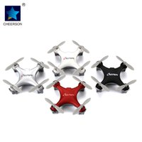 Wholesale New Rc Rtf Helicopters - NEW RC Toys Cheerson CX-10SE 2.4G Remote Control Toys 4CH 6Axis 3D flips RC NaNo Quadcopter Mini RC helicopters RTF Pocket Drone