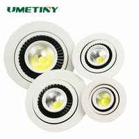 Venta al por mayor- UMETINY LED COB Downlight lámpara de techo redondo 5W / 7W / 9W / 20W Down luz AC85-265V empotrada interior LED Downlights caliente lámparas WHITE