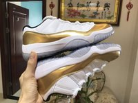 Wholesale Carbon Air Free - Retro 11 Low Closing Ceremony wholesale air 11 white mtlc gold real carbon fibre unisex basketball shoes size eur 36-47 free shipping
