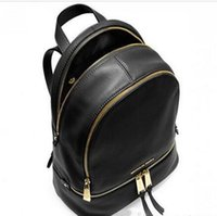 Wholesale Ladies Black Designer Backpacks - Hot Sale backpacks designer 2018 fashion women lady black red rucksack bag charms free shipping