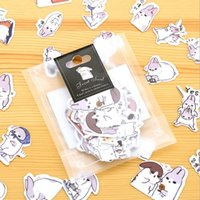 40pcs / série de lapin New Kawaii Chubby Pack Sticker PET / hot sell deco emballage stickers / fournitures de bureau de l'école / gros, dandys