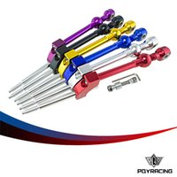 Wholesale Short Shifter Honda - PQY RACING-6 Colors Aluminum Adjustable Height Dual Bend Alu Short Shifter For Honda Civic B & D Series PQY5475