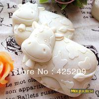 Wholesale Gel Soap - Cute cow mold soap,candle molds,silica gel mould,siliconmold silicone,silicone molds