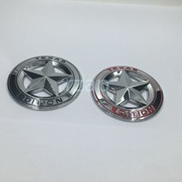 Wholesale Toyota Trd Wholesale - 2pcs set 3D Metal Texas Edition Chrome Emblem Badges For Toyota Tacoma Tundra Ford Chevy Dodge TRD