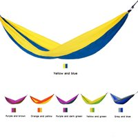Wholesale Outdoor Family Activities - 2 People Outdoor Leisure Parachute Hammock Portable Nylon Parachute Hammock for Camping Travel Outdoor Activities Y1159
