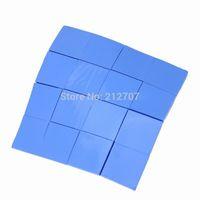 silicona conductora térmica al por mayor-Al por mayor- 16PCS 25 x 25 x 2 mm Azul térmico Disipador térmico Silicona conductora térmica para CPU GPU Chipset VGA
