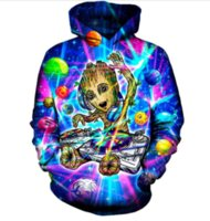 Wholesale Newest Style Mens Hoodies - Newest Fashion Womens Mens Harajuku Style Groot Funny 3D Print Casual Hoodies Pullovers Sweatshirts LMS00095