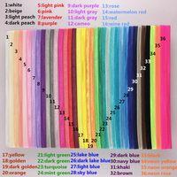 Wholesale Diy Hair Band Plastic - Wholesale 180pcs lot 36 colors 1.5cm wide Shiny Elastic Headbands Hair bands for Baby Girl Adult Hair DIY Children Accessories HA0045
