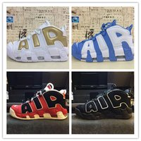 Wholesale New Basketball Shoe Releases - 2017 New Arrive Airils More Uptempoes SUPTEMPO Basketball Shoes OLYMPIC RELEASE Bulls Gold Varsity Maroon Black Mens Shoes Size Eur 40-46