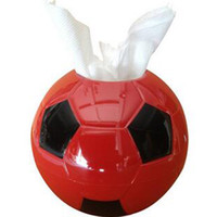 Wholesale Handkerchief Boxes Wholesale - Creative world cup fans home supplies football style tissue boxes holder paper handkerchief case napkin box towel tube Christmas Gift
