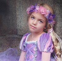Wholesale Purple Christmas Wreath - Christmas party garlands kids stereo flowers pageant princess wreath girls feather Bows ribbon wedding photography hair accessories R1026