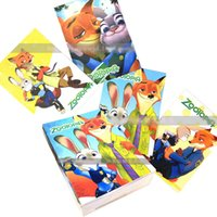 Wholesale PrettyBaby Zootopia printed Notebook colorful paper x14 cm cartoon style K Note book contain stickers