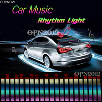 Compra Luci Auto Attive-Popnow 90x 25cm Car Sticker Sound Attivato Equalizzatore Glow Flash Panel Multi Colore Luce Musica Rhythm LED Flash Light Lampada # 2296