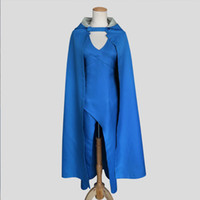 Wholesale Christmas Party Dress Designs - A Game of Thrones Daenerys Targaryen Design Cosplay Show Costume Dress Cloak 5 Size Christmas Halloween Party Costume