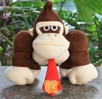 Wholesale Diddy Kong - Hot sale Super Mario plush toy doll 2 styles mario bros diddy kong with banana donkey kong free shipping
