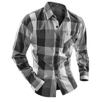 Wholesale British Dress Shirts - Wholesale-2016 New Autumn Style Men Shirt Fashion British Style Quality Plaid Long-sleeved Casual Shirt Men Dress Shirts Camisa Masculina