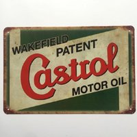 tin decorative sign Painted Castrol Motor Oil tin sign Vintage home Bar Pub Hotel Restaurant Coffee Shop home Decorative Metal Retro Metal Poster Tin Sign
